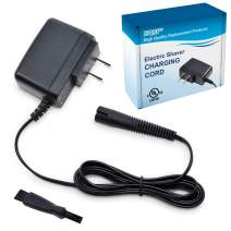 HQRP 12V Charger Works with Braun Series 7 9 3 5 1 Series 3 Model 330s-4, 320s-4, 3020s Type 5415, Cruzer-4 Cruzer-6 SmartControl3 Model 4846 Type 5746 Shaver AC Adapter Power Cord + Cleaning Brush