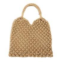 CHIC DIARY Womens Hand-woven Straw Shoulder Bag Summer Beach Handles Tote Handbag