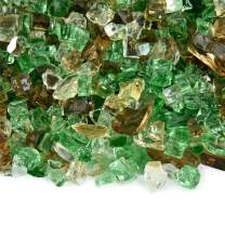 Prairie Gold - Fire Glass Blend for Indoor and Outdoor Fire Pits or Fireplaces | 10 Pounds | 1/4 Inch