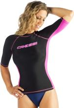 Cressi Women's Performance Dry Fit Rash Guard for Swimming, Surfing, Diving and Water Activities