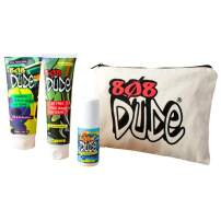 808 Dude Skincare Kit for Teens. Shampoo and Body Wash, Face Wash and Deodorant to Prevent Breakouts and Eliminate Body Odor with Eco-Friendly Cotton Toiletry Bag