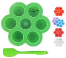 Silicone Egg Bites Molds with Silicone Spatula by BestOffer | for Instant Pot Accessories Fits 5 6 8 qt Pressure Cooker Reusable Storage Container Freezer Trays for Baby Food BPA Free (1, Green)