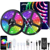 Smart LED Strip Lights 32.8ft, Led Lights Strip 5050 RGB 300 LEDs with 24 Keys IR Remote Controllers, LED Lights Color Changing Waterproof Music Sync APP Control for Bedroom Party Home Decoration