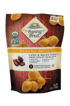 ORGANIC Pitted Dried Dates - Sunny Fruit (2 Bags) - (5) 1.76oz. Portion Packs per Bag | Purely Dates - NO Added Sugars, Sulfurs or Preservatives | NON-GMO, VEGAN, HALAL & KOSHER