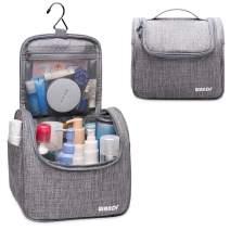 Hanging Toiletry Bag Travel Cosmetic Organizer Shower Bathroom Bag for Men Women Water-resistant (Light Grey)