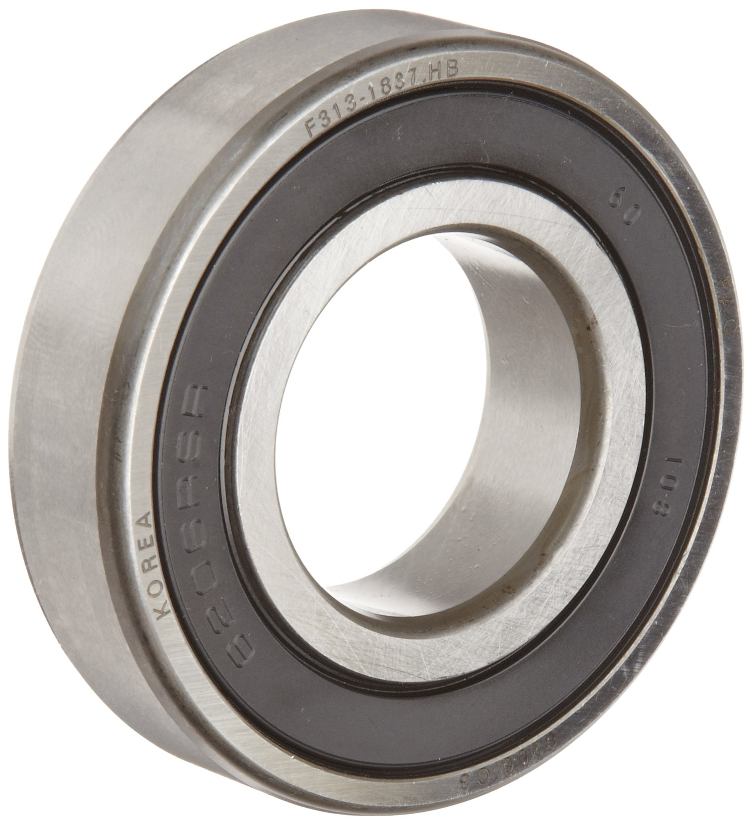 FAG 6217-2RSR-C3 Deep Groove Ball Bearing, Single Row, Double Sealed, Steel Cage, C3 Clearance, Metric, 85mm ID, 150mm OD, 28mm Width, 5000rpm Maximum Rotational Speed, 14400lbf Static Load Capacity, 18700lbf Dynamic Load Capacity