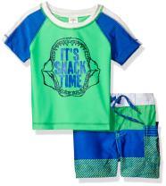 Osh Kosh Boys' Infant Snack Time Rash Guard Set