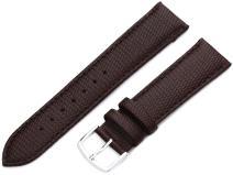 Hadley-Roma Men's MSM725RA 160 16-mm Black Java Lizard Grained Leather Watch Strap