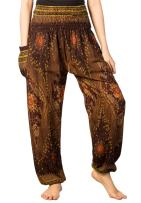 LOFBAZ Harem Pants for Women S-4XL Plus Hippie Yoga Floral Boho Lounge Clothing