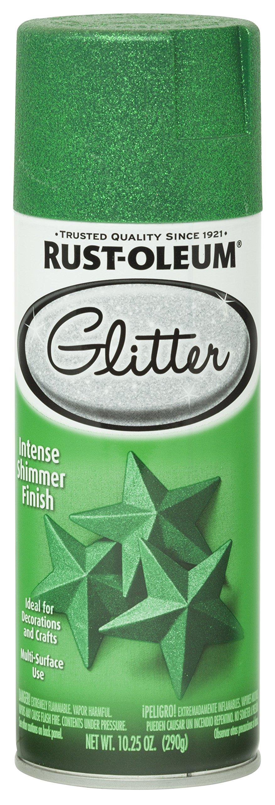 Rust-Oleum 277781 Specialty Spray Paint, Each, Kelly Green Glitter