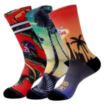 HOdo Novelty Sock for Men & Women, Funny Skateboards Crew Socks