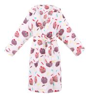 BURKLETT Womens Robe Luxurious Hooded Flannel Fleece Short Bath Robe with Side Pockets