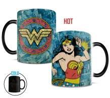 DC Comics Originals -Wonder Woman - Retro Logo - Morphing Mugs Heat Sensitive Mug – Ceramic Color Changing Heat Reveal Coffee Tea Mug - 11oz Large Drinkware