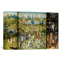 "iCanvasART 1157 The Garden of Earthly Delights 1504 Canvas Print, 26"" x 0.75"" x 40"""