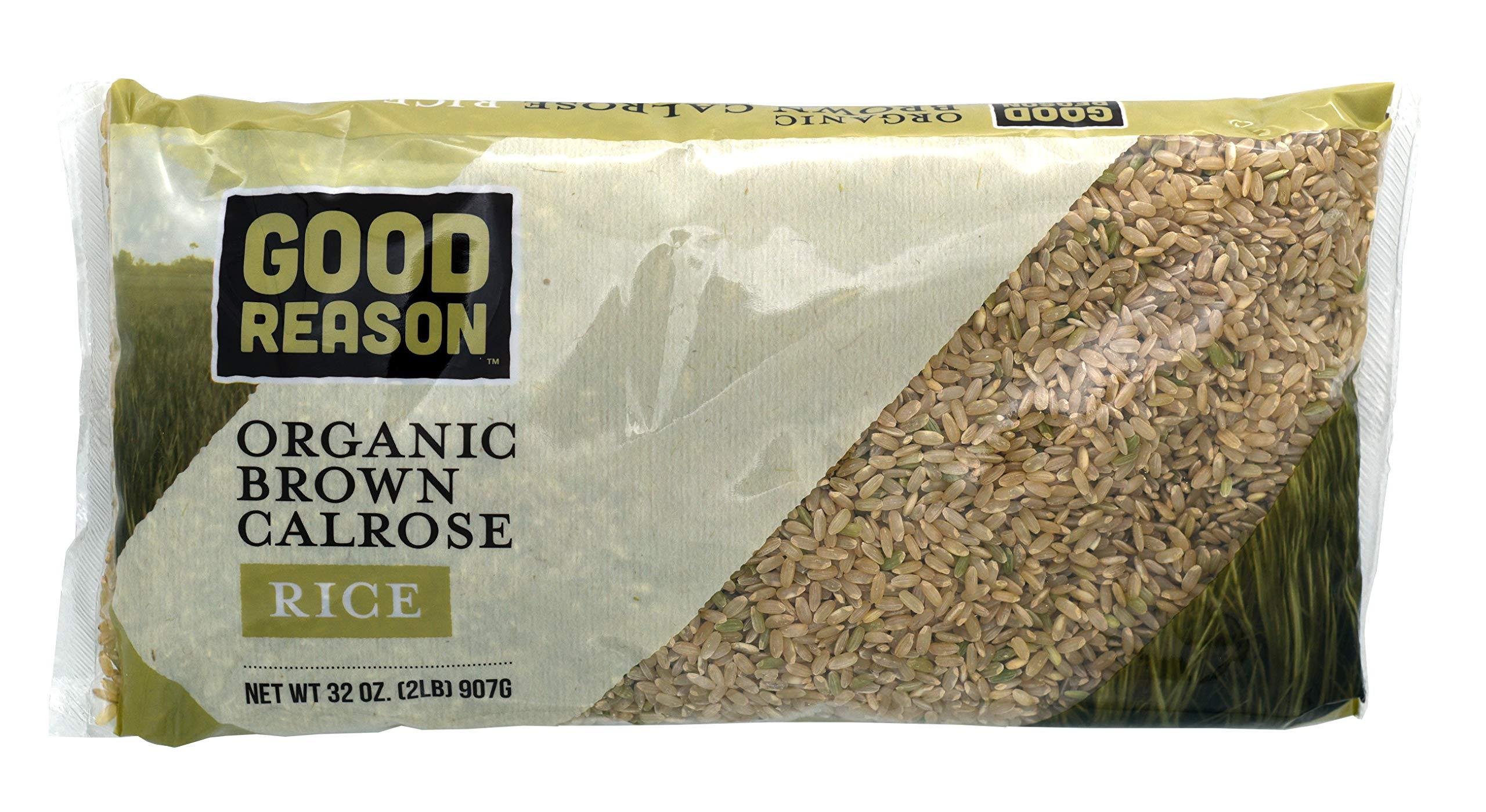 Good Reason Organic Brown Calrose Rice, 2 Lb