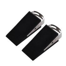 FLORA GUARD Door Stoppers- 2 Packs Rubber Door Stopper, Premium Heavy Duty Wedge Non-Scratching Door Stop, Anti-Slip Garden Stopper