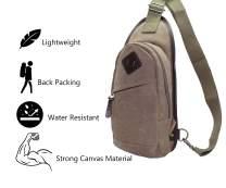 Sling Bag - Water Resistant Crossbody Shoulder Chest Urben Outdoor Travel Backpack for Women & Men Green 8176