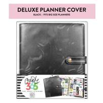 Me & My Big Ideas Big Deluxe Cover, Black - The Happy Planner Scrapbooking Supplies - Stylish & Functional - Extra Protection and Storage with Inner Pockets - Includes Pen Holder - Big Size