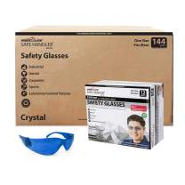 SAFE HANDLER Full Color Safety Glasses | One Size, Adult, Youth, Full Color Polycarbonate Lens and Temple, BLUE, Box of 12 (Case of 12 Boxes, 144 Pairs Total)