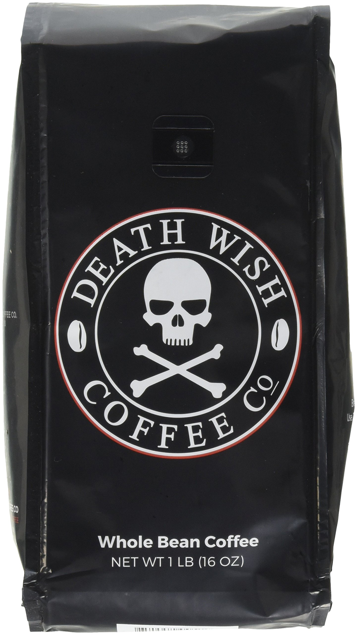 Death Wish Whole Bean Coffee Bundle Deal, The World's Strongest Coffee, Fair Trade and USDA Certified Organic - 2 lb