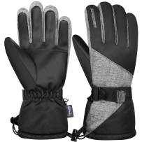 Anqier Winter Gloves for Women Men Waterproof Ski Gloves Thermal Gloves 3M Thinsulate Snow Snowboard Cold Weather Gloves