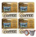 Fresh Roasted Coffee LLC, Swiss Water Decaf Organic Black Knight Coffee Pods, Dark Roast, 72 Count