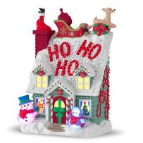 Hallmark Keepsake Christmas Ornament 2018 Year Dated, Merriest House in Town with Music and Light