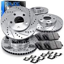 For 1994-1999 Land Rover Discovery Front Rear Brake Rotors Kit + Ceramic Brake Pads