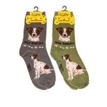 Foozys Unisex Crew Socks   Canine Large & Medium Dog Breed Novelty Sock (2 Pair)