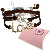 LOVE and CROSS Jesus bracelet - Christian religion bracelet. Women and Girls Christian Gift, Christian Youth or teacher appreciation gift. Ideal for Christian Girl Outfits.