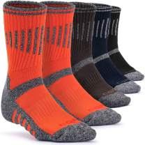 CQR 3 or 5 Pack Men's Multi Performance Outdoor Sports Hiking Trekking Crew Socks
