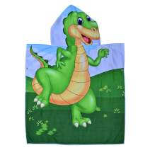 Hooded Bath Beach Towel Set– Dinosaur Super Soft for Baby,Boys,Girls,Toddlers. Comes with a Story Book, Great for Pool Swimming Coverup, Ponchos, Robes or Capes, 1-7 Years kid