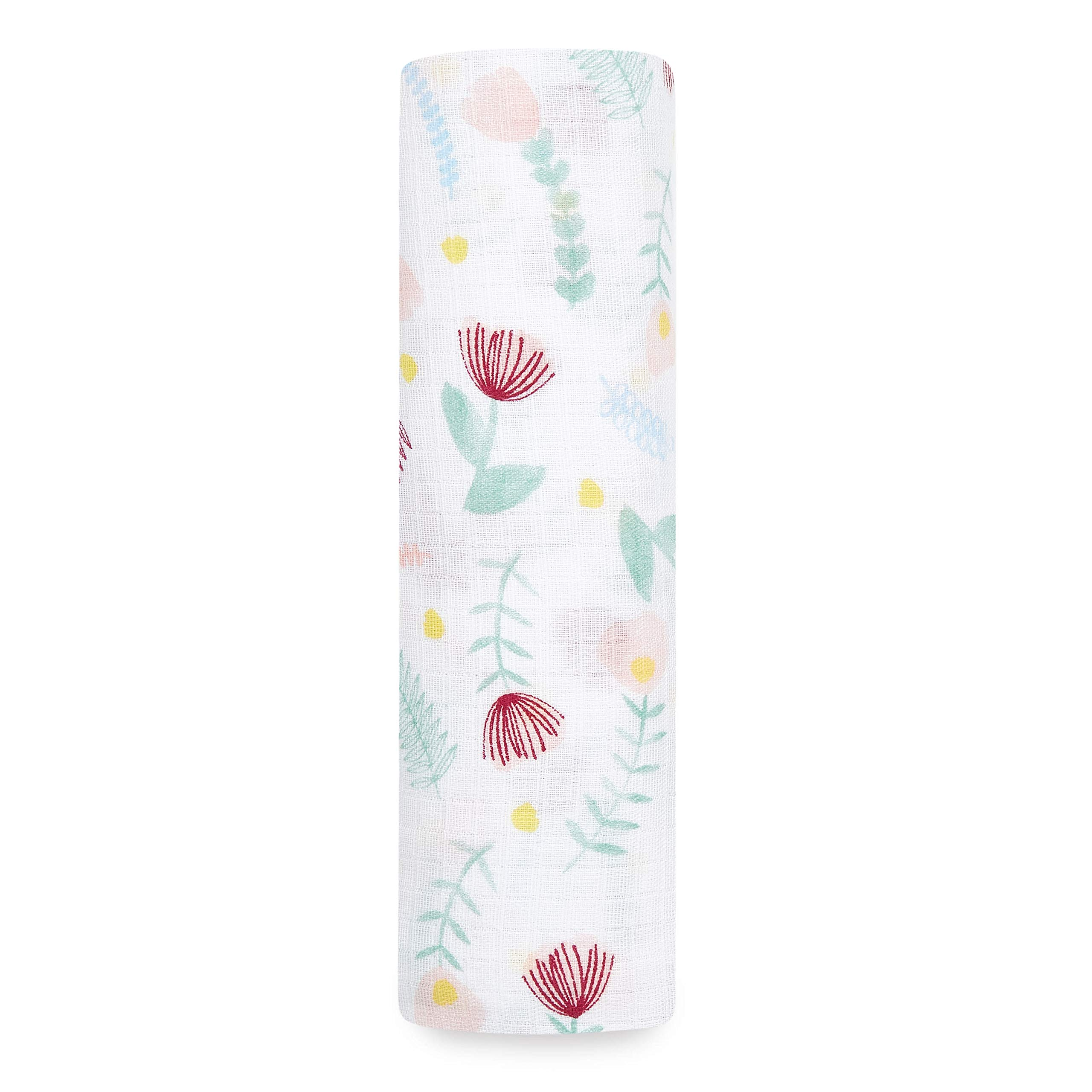 Aden by aden + anais Swaddle Blanket, Muslin Blankets for Girls & Boys, Baby Receiving Swaddles, Ideal Newborn Gifts, Unisex Infant Shower Items, Toddler Gift, Wearable Swaddling Wrap, Flora Fauna