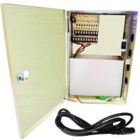 VENTECH CCTV 9 Channel Output 12V DC 10A Auto Reset Fuse CCTV Distributed Power Supply Box for Security Camera