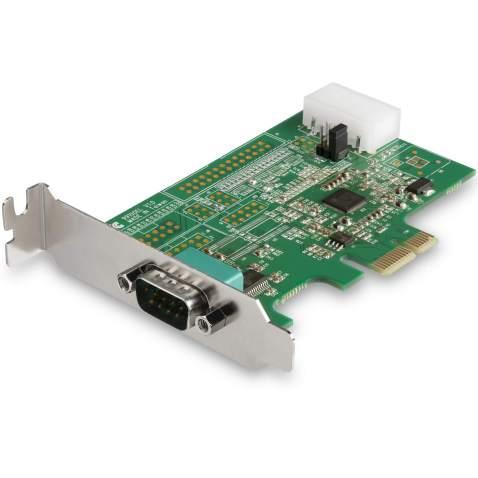 StarTech.com 1-port PCI Express RS232 Serial Adapter Card - PCIe RS232 Serial Host Controller Card - PCIe to Serial DB9 - 16950 UART - Low Profile Expansion Card - Windows, macOS, Linux (PEX1S953LP)