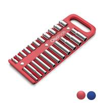 """Olsa Tools Portable Magnetic Socket Organizer Tray 