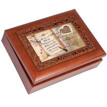 Cottage Garden Happy 20th Anniversary Woodgrain Inlay Jewelry Music Box Plays You Light Up My Life