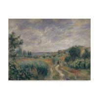 Landscape near Essoyes 1892  by Pierre Auguste Renoir, 14x19-Inch