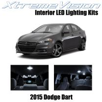 Xtremevision Interior LED for Dodge Dart 2015+ (10 Pieces) Pure White Interior LED Kit + Installation Tool