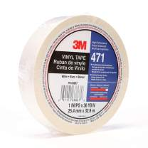 3M Vinyl Tape 471, 1 in x 36 yd, White, 1 Roll, Paint Alternative for Floor Marking, Social Distancing, Color Coding, Safety Marking