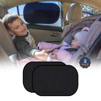 """EcoNour Car Shades for Side Windows Baby   Complete Sun Protection Car Window Covers for Privacy Blackout   UV Protection Baby Sunshade for Car Window   Back Shade Blocks Sun Glare 20""""x12"""" (2 Pack)"""