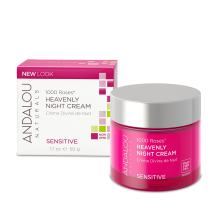 Andalou Naturals Night Cream, White, 1000 Roses Heavenly, 1.7 Ounce