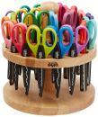 School Smart Paper Edger Scissors, 6-1/2 x 2-1/2 Inches, Assorted Colors, Set of 24