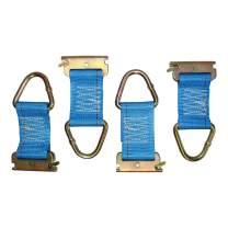 E-Track Rope Tie Off - SGT KNOTS - E Track Cargo Strap Tie Downs - ETrack Accessories for Cargo Tiedown Rail Mounts - Load Securement in Flat Bed Trucks, Vans, and Trailers (6 in - 4 Pack - Blue)