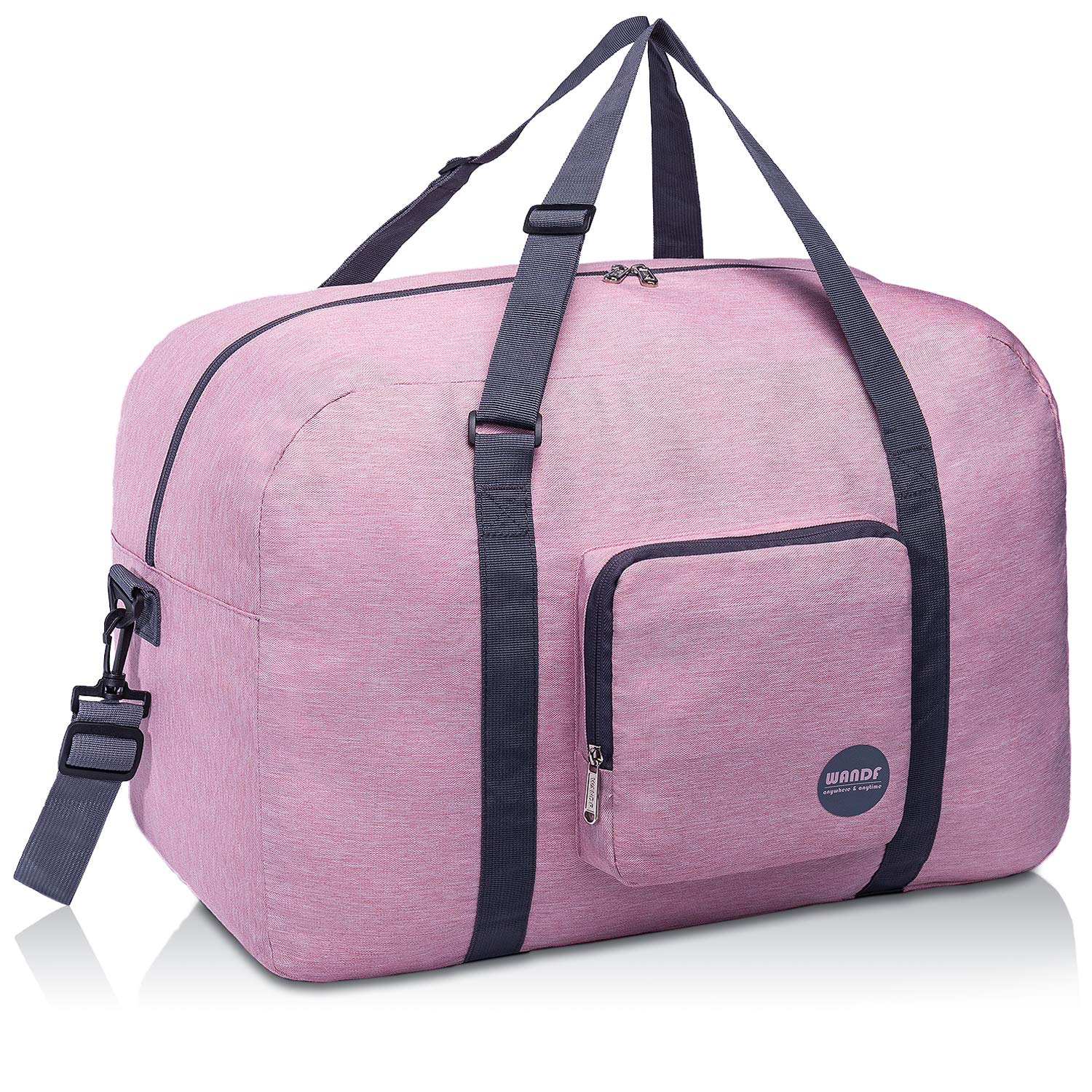 """WANDF 16"""" ~ 22"""" Foldable Duffle Bag 20L ~ 50L for Travel Gym Sports Packable Lightweight Luggage Duffel Water-resistant"""
