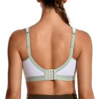 SYROKAN Lightweight Wireless Medium Impact Sports Bras for Women Comfortable Support Workout Yoga Bra