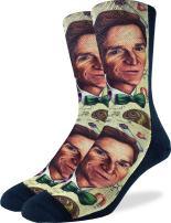 Good Luck Sock Men's Bill Nye the Science Guy Socks - Adult Shoe Size 8-13