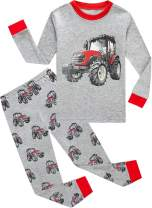 DDSOL Toddler Boys Pajamas Dinosaur 100% Cotton Shark Sleepwear Pjs Sets Long Sleeve Excavator Jammies