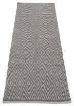 Chardin home 100% Cotton Diamond Runner Rug Fully Reversible, Size -2'x5', Machine Washable, Grey/White.