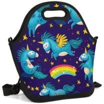 Women&Men&Kids Unicorn Lunch Bag Tote Bag Insulated Lunch Box for Camping/School/Picnic/Boating/Beach/Fishing/Work